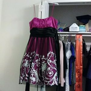 Dresses - Pink sparkly puffy dress